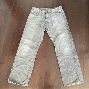 Hugo Boss straight leg button fly jeans